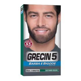 Coloração para Barba e Bigode Grecin 5 - Castanho Escuro - 28g