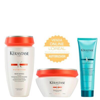 Kérastase Nutritive + Résistance  Kit - Shampoo + Leave-in + Máscara - Kit