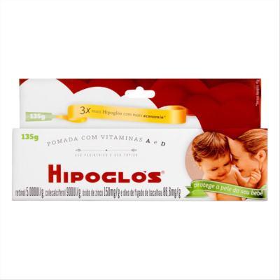 Imagem 1 do produto Hipoglós - 5000UI/g + 900UI/g + 150mg/g, caixa com 1 bisnaga com 135g de pomada de uso dermatológico -