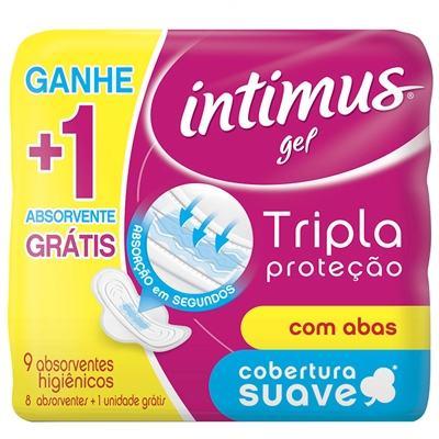 Absorvente Intimus Tripla Proteção Com Abas Seca Leve 9 Pague 8