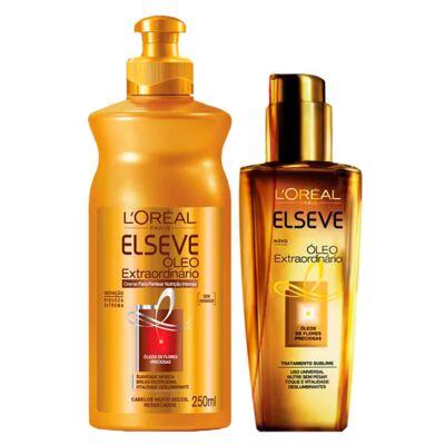 Imagem 2 do produto Kit Shampoo + Condicionador + Spray + Creme de Pentear L'Oréal Paris Elseve Óleo Extraordinário Ed. Verão - Kit