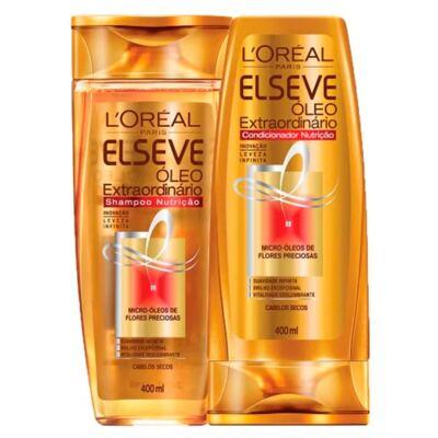 Imagem 3 do produto Kit Shampoo + Condicionador + Spray + Creme de Pentear L'Oréal Paris Elseve Óleo Extraordinário Ed. Verão - Kit