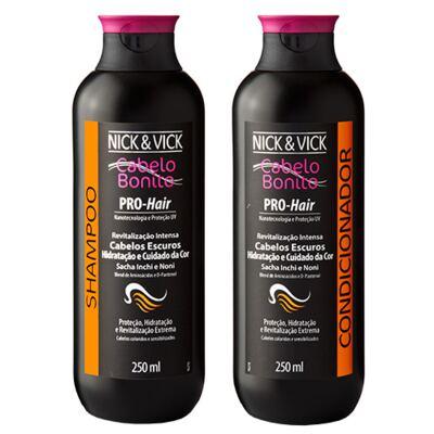 Imagem 1 do produto Kit Shampoo + Condicionador Nick & Vick Pro-Hair Revitalização Intensa Cabelos Escuros - Kit