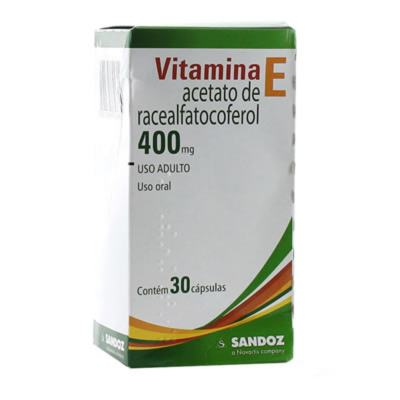 Vitamina E 400mg Sandoz 30 Comprimidos