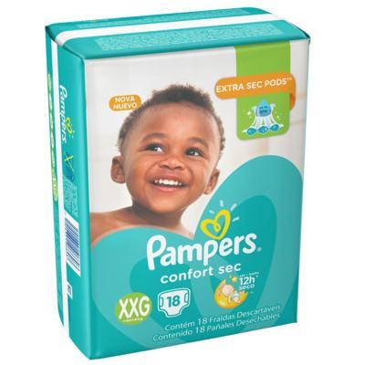 Imagem 1 do produto Fralda Pampers Confort Sec Pacotão XXG 18 unidades - XXG