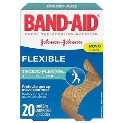 Curativo Band Aid Flexible 20un