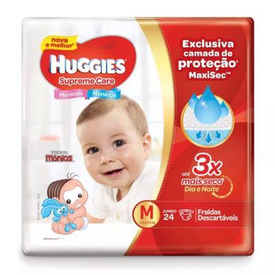 Imagem 1 do produto Fralda Descartável Huggies Supreme Care Jumbo M 24 Unidades