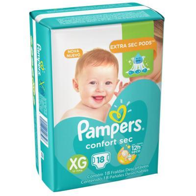 Imagem 1 do produto Fralda Pampers Confort Sec XG 18 unidades