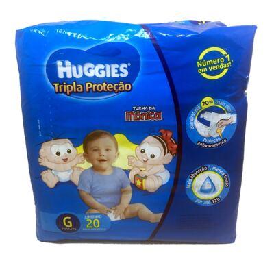 Fralda Huggies Turma Da Mônica Tripla Proteção Jumbinho G 20un