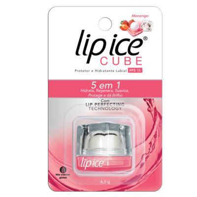 Lip Ice Protetor e Hidratante Labial - FPS15 Morango | 6,5g