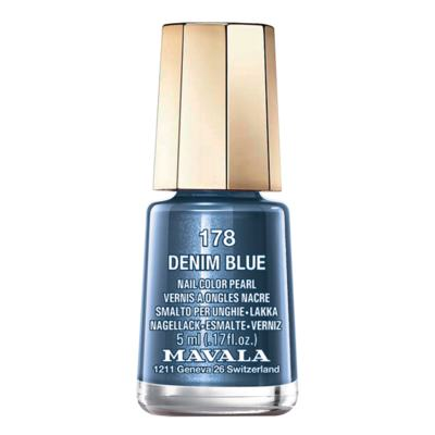 Mavala Mini Color 5ml - Esmalte Cintilante - 178 - Denim Blue