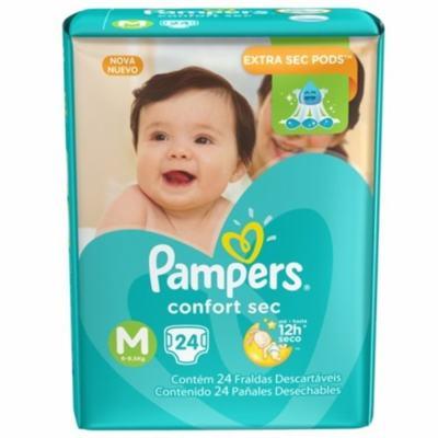 Fralda Pampers Confort Sec M 24 unidades