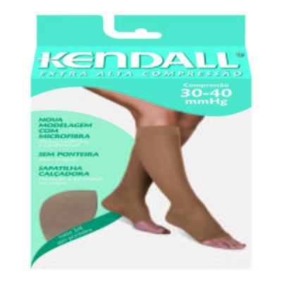 Imagem 1 do produto Meia Panturrilha Extra Alta 30-40 mmHg Kendal - MEL PONTEIRA ABERTA P