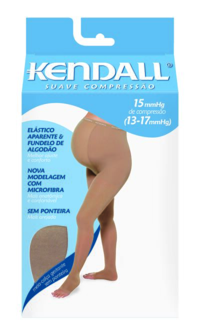 Imagem 1 do produto MEIA CALÇA DE GESTANTE 13-17 SUAVE KENDALL - MEL PONTEIRA ABERTA P