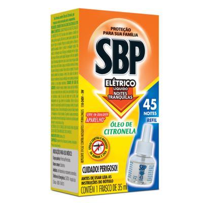Imagem 1 do produto Repelente SBP - Líquido 45 Noites Refil Citronela - 35ml