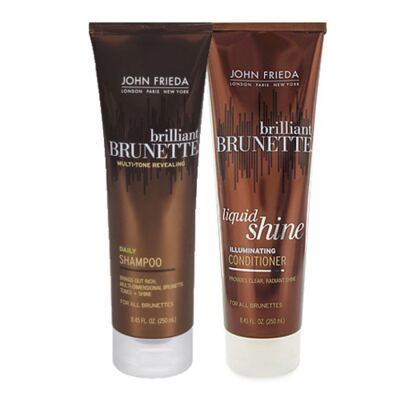 Kit Shampoo + Condicionador John Frieda Brilliant Brunette Liquid Shine - Kit