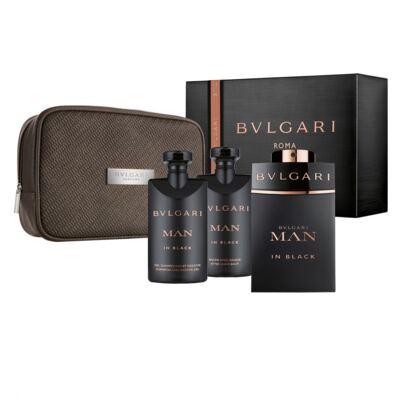Man in Black BVLGARI - Masculino - Eau de Parfum - Perfume Masculino + Gel de Banho + Pós Barba + Nécessaire - Kit