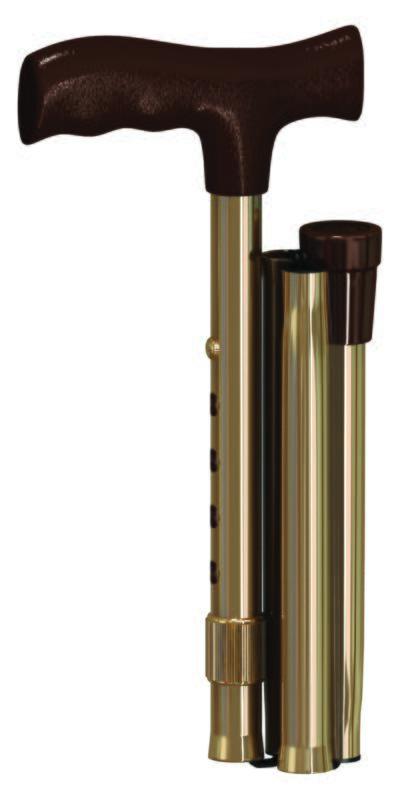 Imagem 1 do produto BENGALA DE ALUMINIO TIPO T DOBRAVEL BRONZE BC1530-BZ MERCUR