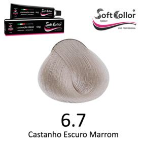 Coloracao Profissional SOFTCOLLOR PERFECT 60g - Cores: Louro Escuro - Nuance 6.7 Louro Escuro Marrom