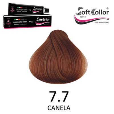 Coloracao Profissional SOFTCOLLOR PERFECT 60g - Cores: Louro Médio - Nuance 7.7 CANELA