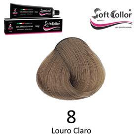 Coloracao Profissional SOFTCOLLOR PERFECT 60g - Cores: Louro Claro - Nuance 8 Louro Claro