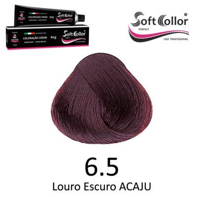 Coloracao Profissional SOFTCOLLOR PERFECT 60g - Cores: Louro Escuro - Nuance 6.5 Louro Escuro ACAJU