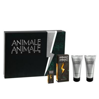 Animale For Men Animale - Masculino - Eau de Toilette - Perfume + Pós- Barba + Gel de Banho + Miniatura - Kit