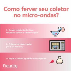 Coletor Menstrual Tipo 1 Fleurity - Cuidados Femininos - 2 Un