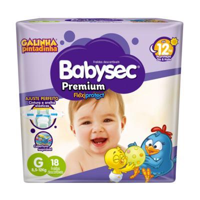 Fralda Babysec Galinha Pintadinha Premium G 18 Unidades