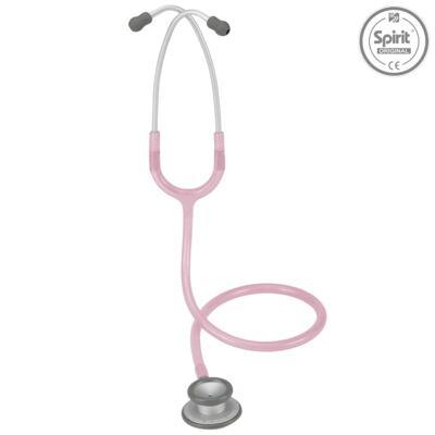 Imagem 2 do produto Kit Esteto Spirit Pro-Lite Rosa Transparente com Aparelho de Pressão Bic Rosa
