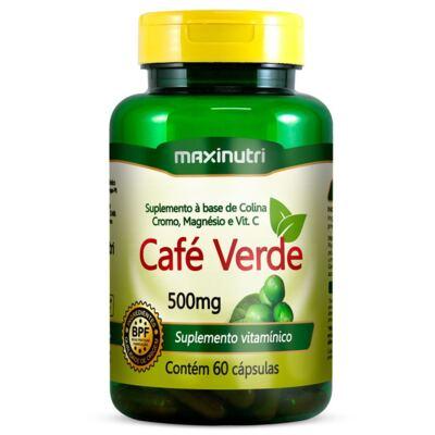 Café Verde Com Colina/cromo/magnésio E Vitamina C 60 Cápsulas - Maxinutri