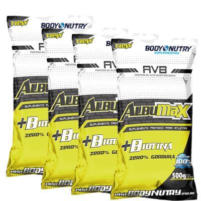 Imagem 1 do produto Combo 4 Albumax + Biotina 500g Morango - Body Nutry - Combo