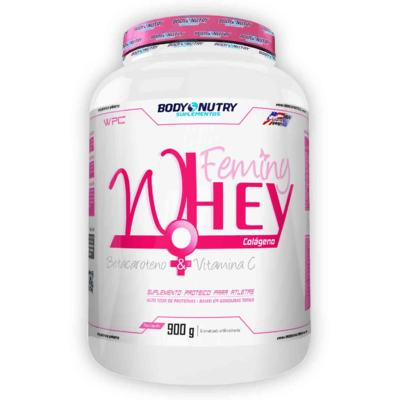 Feminy Whey + Colágeno 900g - Body Nutry - Morango