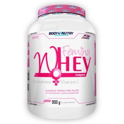 Imagem 1 do produto Feminy Whey + Colágeno 900g - Body Nutry - Morango