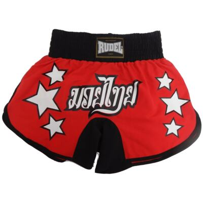 Imagem 1 do produto Shorts Muay Thai Vermelho e Preto MF15 – Rudel