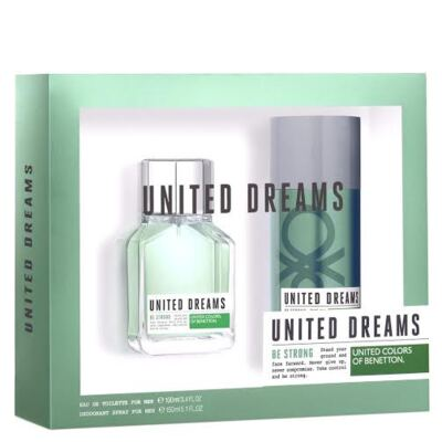 Imagem 1 do produto Kit United Dreams Be Strong by Benetton Eau de Toilette Masculino - 100 ml