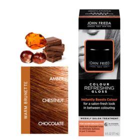 Colour Refreshing Gloss 177ml John Frieda - Tratamento para Cabelos Coloridos - Warm Brunette