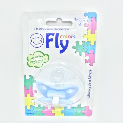 Imagem 2 do produto Chupeta Fly Colors Silicone Ortodôntico Azul Claro + 6 meses Tam 2 -