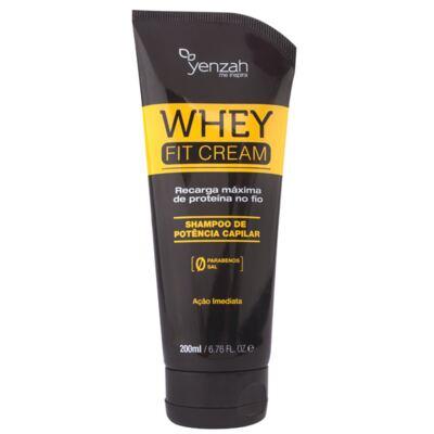 Imagem 1 do produto Yenzah Power Whey Fit Cream - Shampoo Reconstrutor - 200ml