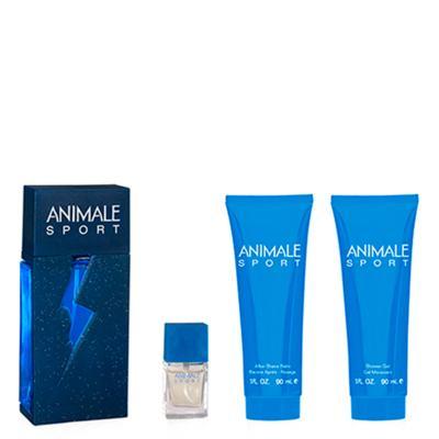 Imagem 1 do produto Animale Sport Animale - Masculino - Eau de Toilette - Perfume + Miniatura + Pós Barba + Gel de Banho - Kit