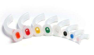 Imagem 1 do produto CANULA OROFARINGEA DE GUEDEL MD - Nº 5 - 100MM - Vermelha