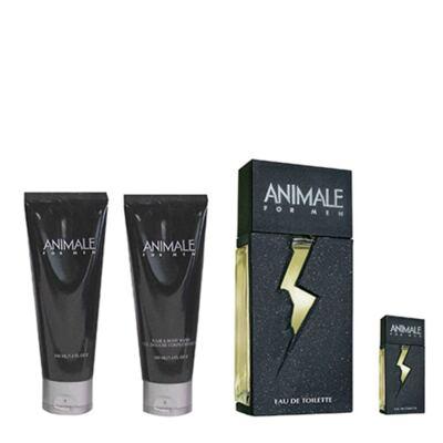 Animale for Men Animale - Kit Perfume Masculino + Baume Pós-Barba + Gel de Banho + Miniatura - Kit