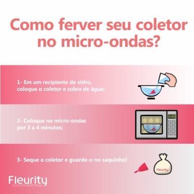 Imagem 5 do produto Coletor Menstrual Tipo 2 Fleurity - Cuidados Femininos - 2 Un