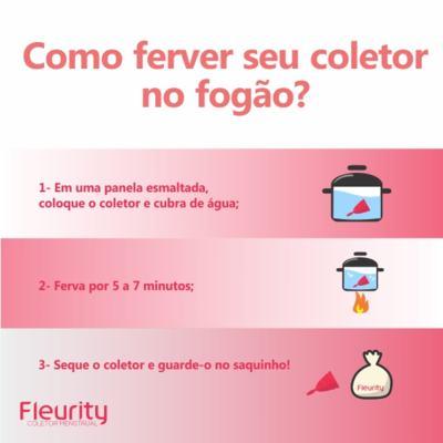 Imagem 6 do produto Coletor Menstrual Tipo 2 Fleurity - Cuidados Femininos - 2 Un