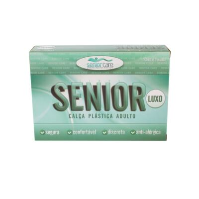 Calça Plástica Bege Sem Botão Senior Care - G