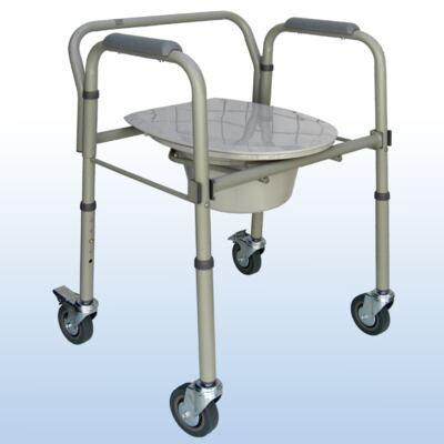 Imagem 1 do produto Cadeira de Banho em Aço Dobrável e Regulável S-CMF202-W Praxis