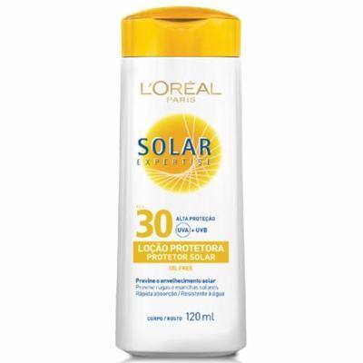 Imagem 1 do produto Protetor Solar L'Oréal Paris Solar Expertise Loção Protetora FPS 30 - 120ml