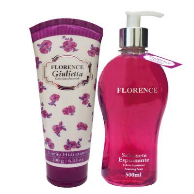 Imagem 1 do produto Giulietta Florence - Kit Sabonete Liquido 510ml + Loção Corporal 200ml - Kit