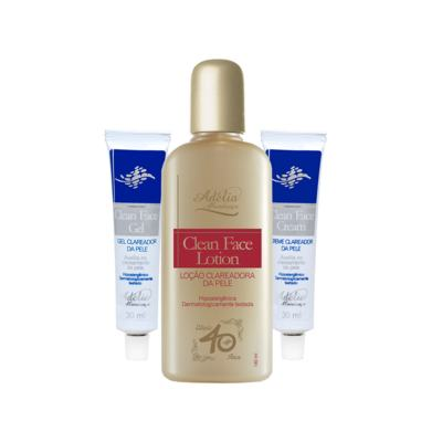 Kit Clareador (Clean Face Lotion + Clean Face Gel + Clean Face Cream) - 3 produtos