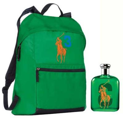 Imagem 1 do produto Polo Big Pony 3 Ralph Lauren - Masculino - Eau de Toilette - Perfume + Mochila - kit